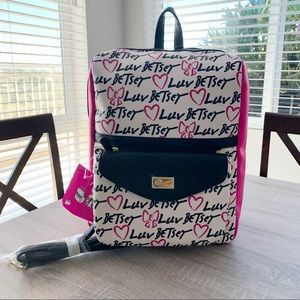 Betsey Johnson 2 for 1 Backpack XBody Purse